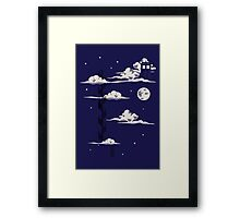 He lives on a cloud in the sky Framed Print
