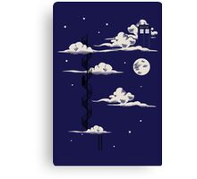 He lives on a cloud in the sky Canvas Print