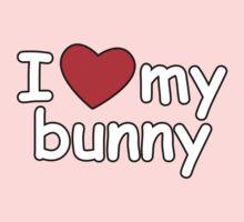 I Love My Bunny Baby Tee
