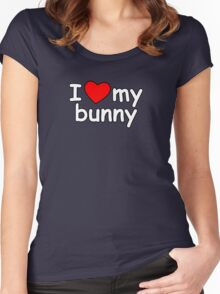 I Love My Bunny Women's Fitted Scoop T-Shirt