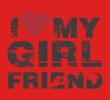 I Love My Girlfriend Vintage Valentines Day One Piece - Short Sleeve