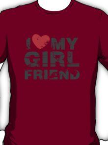 I Love My Girlfriend Vintage Valentines Day T-Shirt