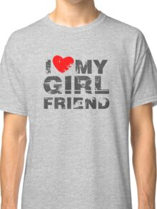 I Love My Girlfriend Vintage Valentines Day Classic T-Shirt