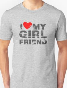I Love My Girlfriend Vintage Valentines Day T-Shirt