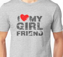 I Love My Girlfriend Vintage Valentines Day Unisex T-Shirt