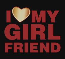 I Love My Girlfriend Gold Valentines Day One Piece - Short Sleeve