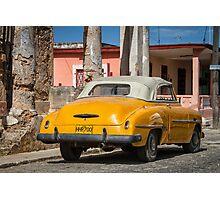 yellow in Cojimar, Cuba Photographic Print