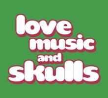 Love Music And Skulls Emo Baby Tee