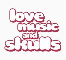 Love Music And Skulls Emo Kids Tee