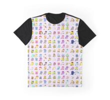Pony Parade Full Print Graphic T-Shirt