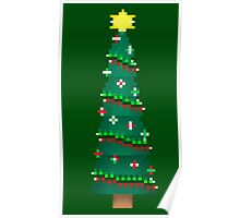Pixel Christmas Tree Poster