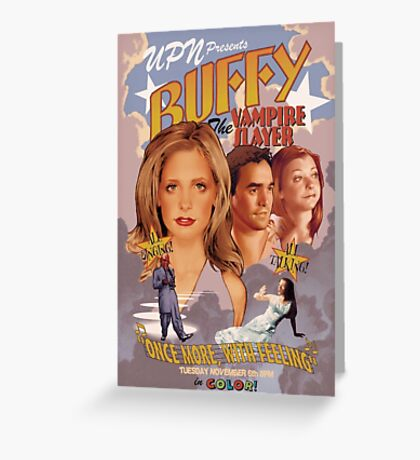 Buffy: Once More, With Feeling Greeting Card