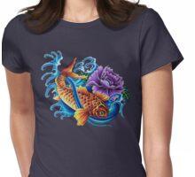 Vivid Koi Womens Fitted T-Shirt