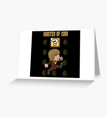 Master of Coin Greeting Card