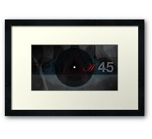 AA Forty Five RPM Framed Print