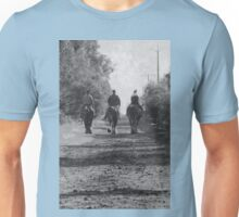 Down the track of time Unisex T-Shirt