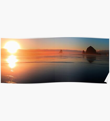 HDR Panoramic Sunset Poster