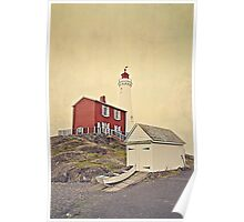 Lighthouse Vancouver Island Poster