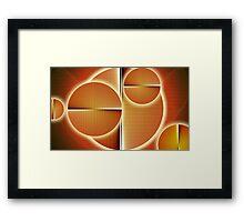 Solar forces Framed Print