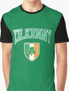 Kilkenny, Ireland with Shamrock Graphic T-Shirt