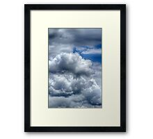 Clouds in the sky  Framed Print