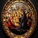 Madonna Adoring the Child with Five Angels-1485-1490 by Robert Burns
