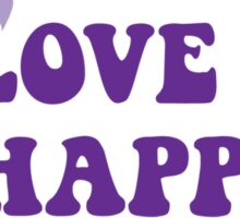 Peace Love and Happy Hour Sticker