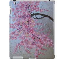 cherry blossom tree art with white and pink- japanese painting iPad Case/Skin