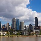 Brisbane Skyline, From New Farm. 2013. by johnrf