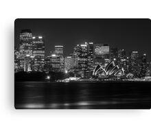 Sydney Opera House Mono Canvas Print