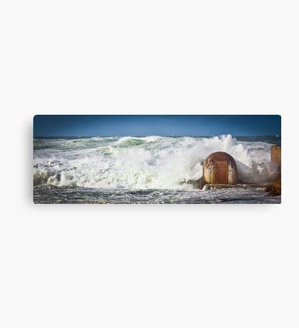Huge Seas -Newcastle  Canvas Print
