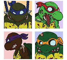 Classic 80s TMNT Shirt but with Zombies! by PartyMoth59
