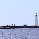 A Day on the Lighthouse Pier by Mikell Herrick