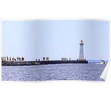 A Day on the Lighthouse Pier Poster