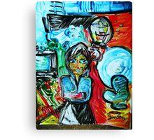 DEPRESSION - acrylic, tempera, paper 22 x 28'' Canvas Print