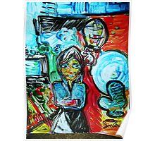 DEPRESSION - acrylic, tempera, paper 22 x 28'' Poster