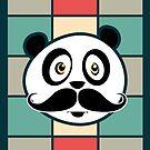 Mustache Panda by Adamzworld