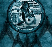 Dream Catcher - Native American Woman by Doreen Erhardt