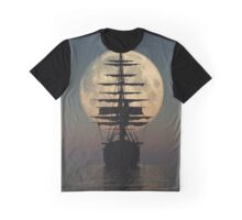 Pirate ship with full moon Graphic T-Shirt