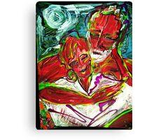LATE - acrylic, tempera, paper 18 x 24'' Canvas Print