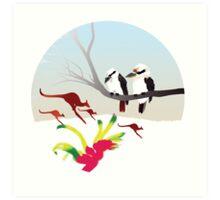 "Day 143 | 365 Day Creative Project  ""Kangaroos & Kookaburras"" Art Print"