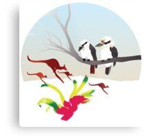 "Day 143 | 365 Day Creative Project  ""Kangaroos & Kookaburras"" Metal Print"