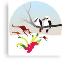 "Day 143 | 365 Day Creative Project  ""Kangaroos & Kookaburras"" Canvas Print"
