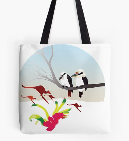"Day 143   365 Day Creative Project  ""Kangaroos & Kookaburras"" Tote Bag"