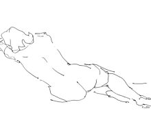 Nude Female Drawings 9  by Gordon-Punt