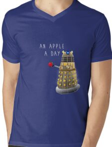 An Apple a Day Keeps the Doctor Away Mens V-Neck T-Shirt