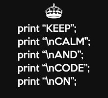 Keep Calm And Code On - Perl - \n front - White Unisex T-Shirt