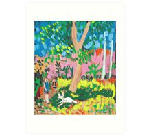 Dog Day in the Park Art Print