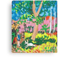 Dog Day in the Park Canvas Print