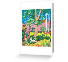 Dog Day in the Park Greeting Card